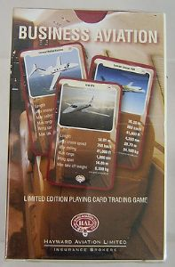 'Top Trumps' Trading Cards - Business Aviation - Hayward Aviation - Sealed